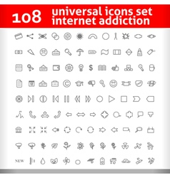 Universal Icons Set Second Collection vector image