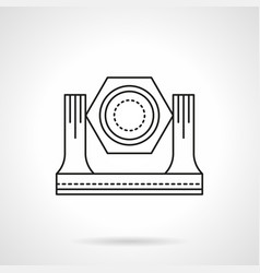 Stage lighting equipment flat line icon vector