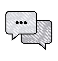 drawing bubble speech chat message image vector image