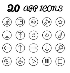 20 app icons in eps vector