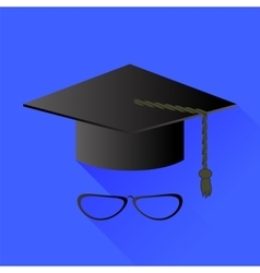 Hat and glasses vector