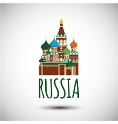 Saint basil cathedral russia moscow vector
