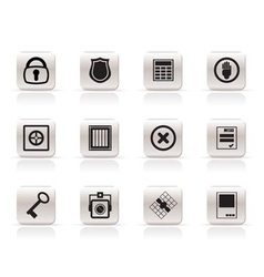 Simple security and business icons vector