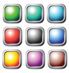 Square buttons set vector