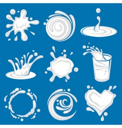 Milk splashes image vector