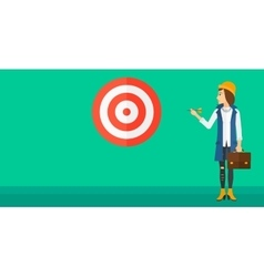 Business woman with target board vector