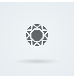 Logo with a jewel laconic headdress icon vector