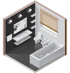 Isometric bathroom icon vector