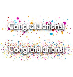Congratulations paper banners vector