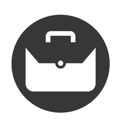 Suitcase object icon vector