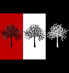 abstract tree canvas vector image vector image