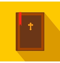 Bible book flat icon vector