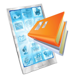 book app phone concept vector image