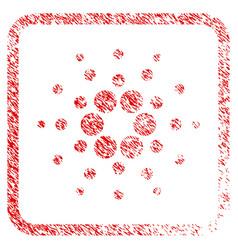 Cardano framed stamp vector