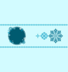 christmas banner template vector image vector image