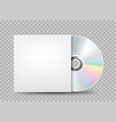 compact disc white cover transparent vector image