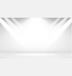 empty white photo studio interior background vector image vector image