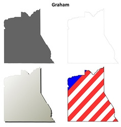Graham county arizona outline map set vector