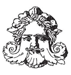 Grotesque mask is a venetian italian renaissance vector