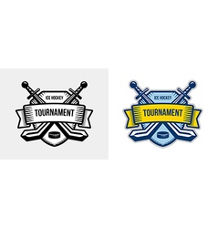 Ice hockey logo winter team sport tournament vector