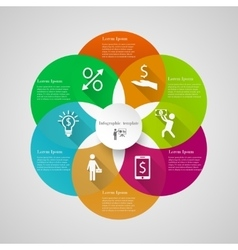 Infographic circle cover template vector image