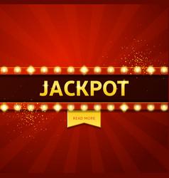 Jackpot retro banner vector