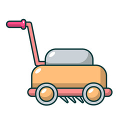 Lawn mower machine icon cartoon style vector