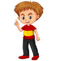little boy pointing his finger up vector image vector image