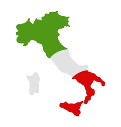 map of Italy with flag vector image vector image