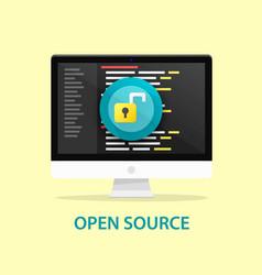 Open source code computer programming vector
