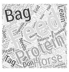 Read the feed bag tag word cloud concept vector