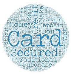 Secured credit cards text background wordcloud vector