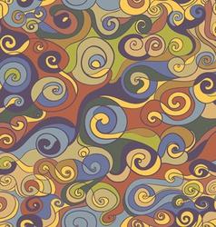 Vintage curls pattern vector