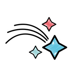 Shooting star in the space universe galaxy vector