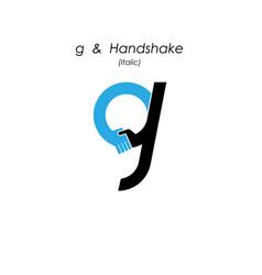 Creative g- letter icon abstract logo design vector