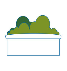 Bush in a pot icon vector