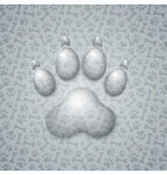 Trace dog in the form of droplets water vector