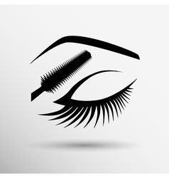 Eye closeup mascara model female fashion girl look vector