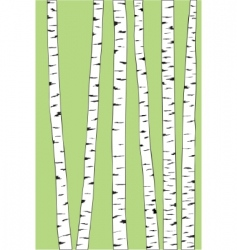 Birch trunk trees background vector