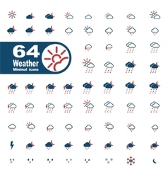 Weather simply icons vector image