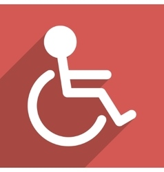 Handicapped flat long shadow square icon vector