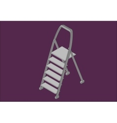 Step ladder isometric flat vector