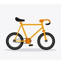 Classic bicycle bike icon sport concept vector
