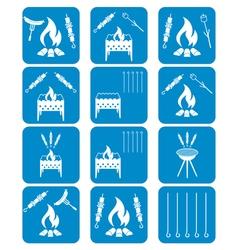 Set of kebab icons vector