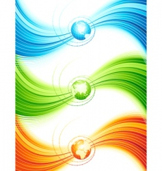 abstract design with globe illustratio vector image vector image