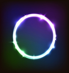 Abstract glowing background with colorful circles vector