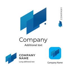Abstract technological logo design modern clean vector