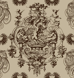Baroque antique seamless pattern background vector image
