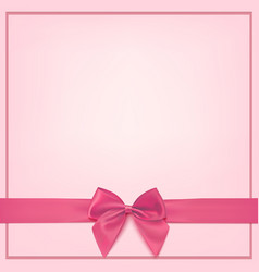 Blank pink greeting card template vector
