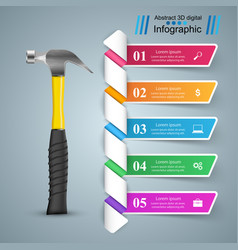 building infographics origami style vector image vector image